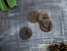 Load image into Gallery viewer, Copy of 100% Organic Cotton Reusable Cotton Rounds | Charcoal infused for applying toner, makeup remover, daily cleansing | travel-friendly