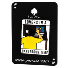 Load image into Gallery viewer, Lovers in a Dangerous Time Enamel Pin Badge Pandemic COVID 19 Gift For Him/Her