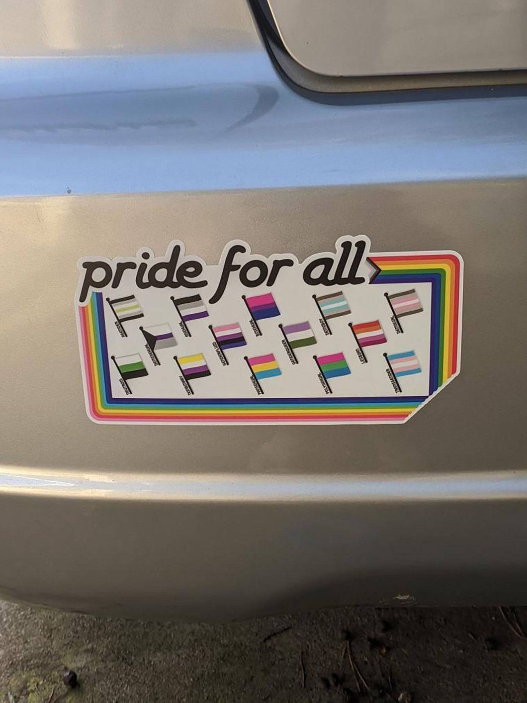 Pride for All bumper sticker