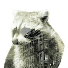 Load image into Gallery viewer, City Raccoon Pin Back Button