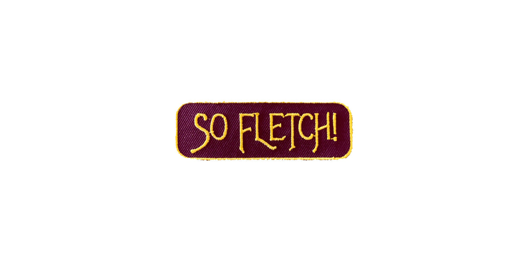 So Fletch Iron-on Patch