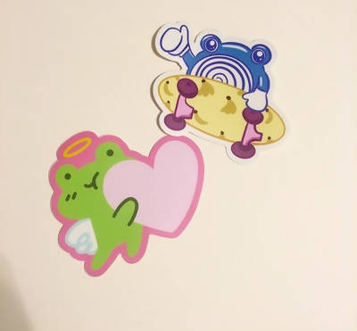 Tibby and Poliwhirl Stickers