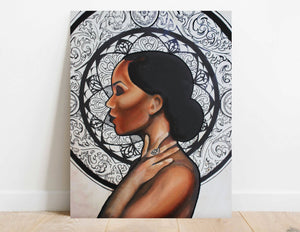 "Unique wood art; Strong female art; Feminist art; Empowered women - ""LOTUS"""