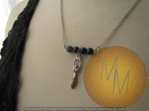 Divine Feminine Goddess Necklace (Blue Goldstone)