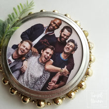 Load image into Gallery viewer, Handmade glittered Queer Eye Christmas Ornament, JVN, Karamo, Antoni, Tan, Bobby, Fab 5 gift