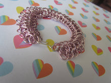 Load image into Gallery viewer, Pink Dragonback Chainmail Bracelet