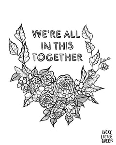 We're All in This Together FREE Colouring Sheet