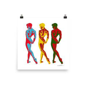 Male Dancers Art Print