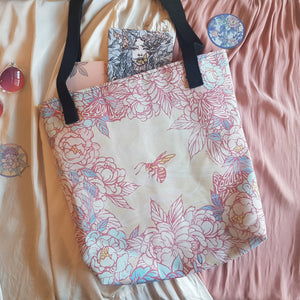 BEES & WILDFLOWERS TOTE BAG (DOUBLE-SIDED)