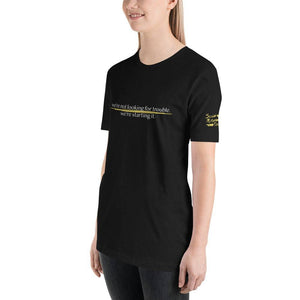 Starting Trouble Relaxed Fit Tee | Social Miscreant Tees Branded Shirt