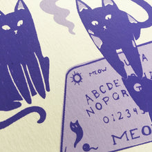Load image into Gallery viewer, Ouija Cats Screenprint