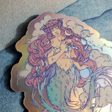 Load image into Gallery viewer, GALAXY MERMAID STICKER (MATTE HOLOGRAPHIC)