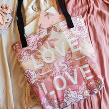 Load image into Gallery viewer, LOVE IS LOVE TOTE BAG (DOUBLE-SIDED)