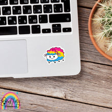 Load image into Gallery viewer, Pansexual pride sheep sticker