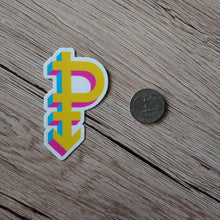 Load image into Gallery viewer, Pansexual Pride Symbol sticker