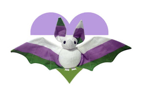 Handmade Genderqueer Pride Bat Doll - Multiple Colour Options - Made To Order