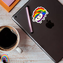 Load image into Gallery viewer, Rainbow gay pride sheep sticker