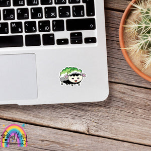 Aromantic pride sheep sticker
