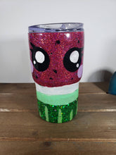Load image into Gallery viewer, Hand Painted Kawaii Watermelon 14 oz Acrylic Tumbler