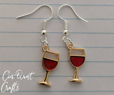 Beer and Wine Inspired Earrings