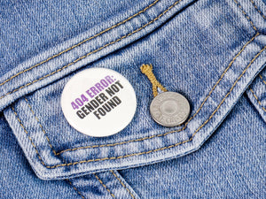 Non-binary Pride: Pinback Buttons or Strong Ceramic Magnets