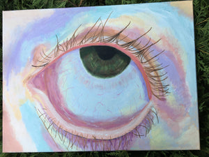 Pulled Eye Acrylic Painting
