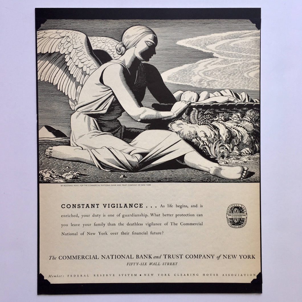 Rockwell Kent Illustrated Ad, 1934
