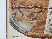 Load image into Gallery viewer, 1951 Comstock Ad, Apple Pie Advertisement, 11x14 Vintage Poster, Retro Kitchen Wall Decor, Pie Art, Life Magazine, 1950's Kitchen