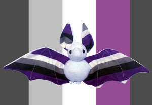 Handmade White Asexual Pride Bat Doll - Made To Order