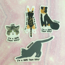 Load image into Gallery viewer, SAFE Team Rescue Vinyl Cat Donation Stickers
