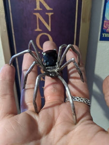 Black Widow silver spider ring avante garde statement