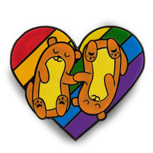 Load image into Gallery viewer, Pride Animal Collection Otters Enamel Pin Badge Rainbow LGBTQ Gift For Him/Her