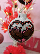 Load image into Gallery viewer, Whimsical Glitter Booty Heart Ornament