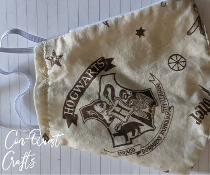 Hogwarts Inspired Face Mask - 3 layers 100% cotton!