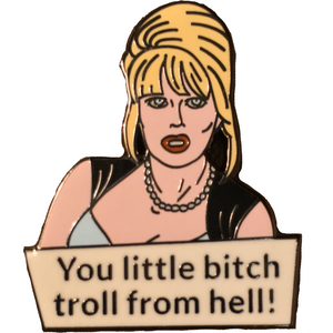 Absolutely Patsy Stone Enamel Pin