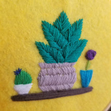 Load image into Gallery viewer, 4 types!!! Hand embroidered plant art hoop with books on shelves