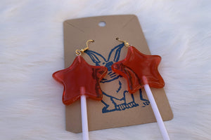 Red Star Sucker - Earrings