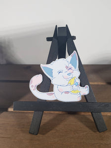Moon Plushie Cat Vinyl Sticker