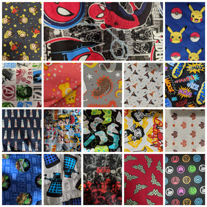 Cotton Fabric- Harry Potter, Super Heroes, Star Wars, Summer, Cottage, wine and more themes! See description!