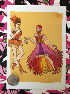 Yvie Oddly & Plastique Tiara Farm to Runway 5x7 Print