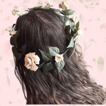 Load image into Gallery viewer, Greenery Paper Flower Crown