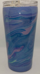 Purple Waves 16oz Flow Acrylic Tumbler