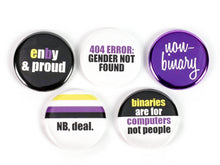 Load image into Gallery viewer, Non-binary Pride: Pinback Buttons or Strong Ceramic Magnets