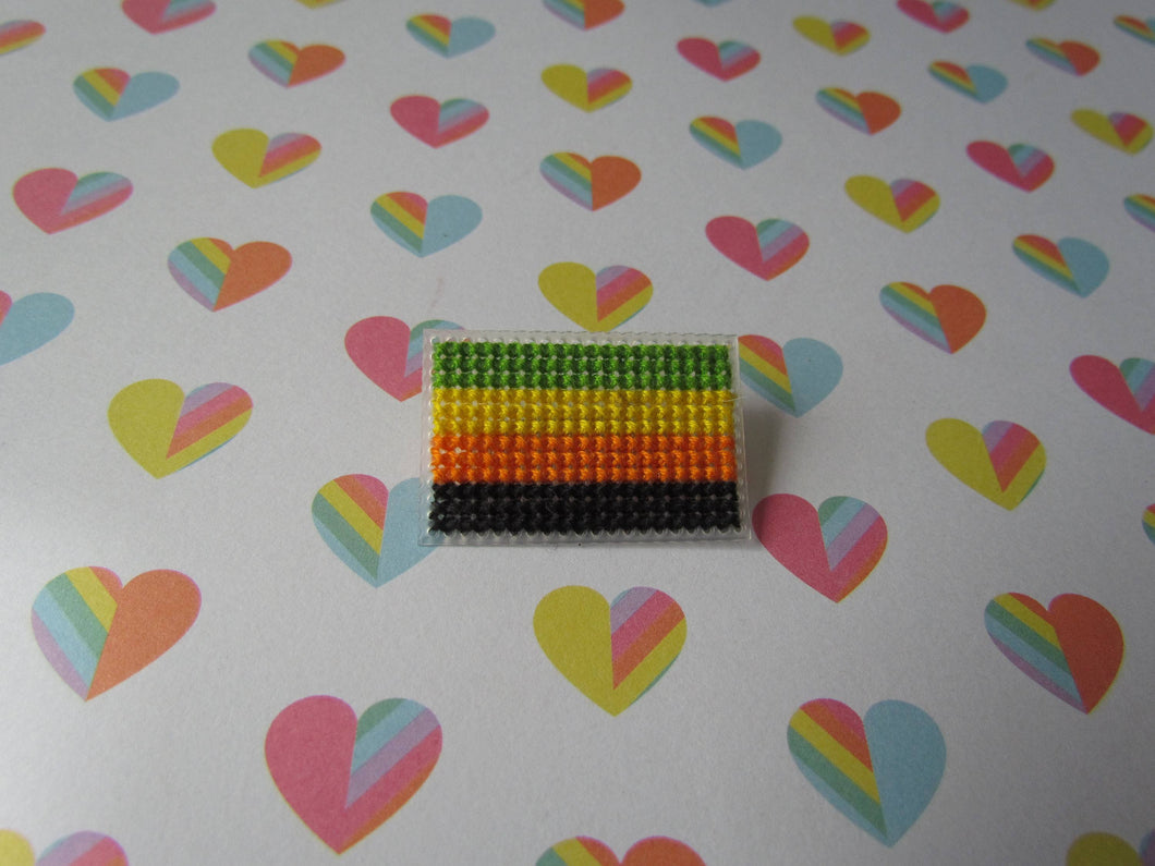 Cross Stitched Pride Flag Pins - AROMANTIC