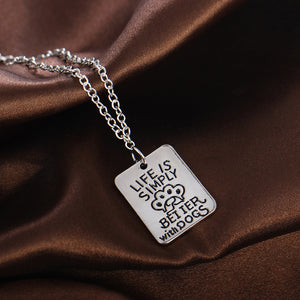 Stunning Dog Pendant - Life Is Simply Better