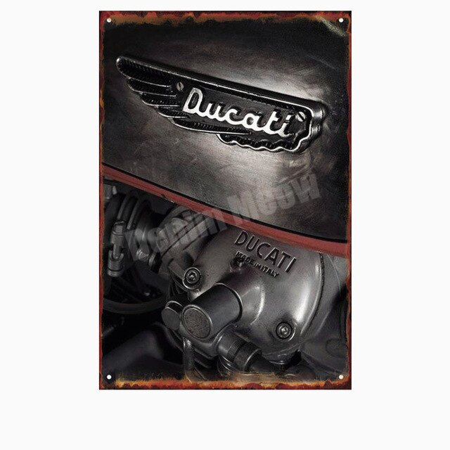 Ducati Corse Plaque Vintage Metal Tin Sign Pub Bar Garage Decorative Plate Motorcylce Iron Painting Motor Wall Art Stickers N280