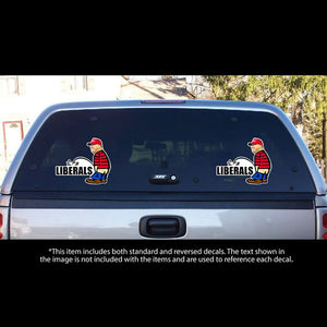 2019 Peeing On Liberals Donald Trump Bumper Stickers Laptop Decal Car Vinyl Phone Trucks Window