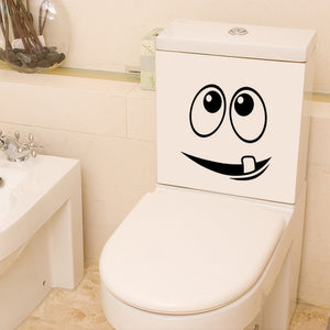 1pc Toilet Bathroom Creative Waterproof sticker Toilet Sticker Wall Sticker Home Decoration Creative Pattern Diy Funny Mural Art