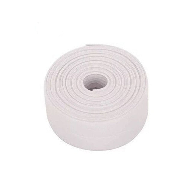 3.2mx38mm Bathroom Shower Sink Bath Sealing Strip Tape White PVC Self adhesive Waterproof Wall Sticker for Bathroom Kitchen