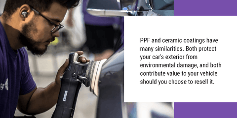 How Are PPF and Ceramic Coatings Similar?